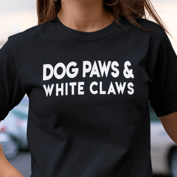 Dog Paws & White Claws T-Shirt