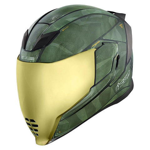 Icon Airflite Battlescar 2 Motorcycle Helmet FREE Gold Shield