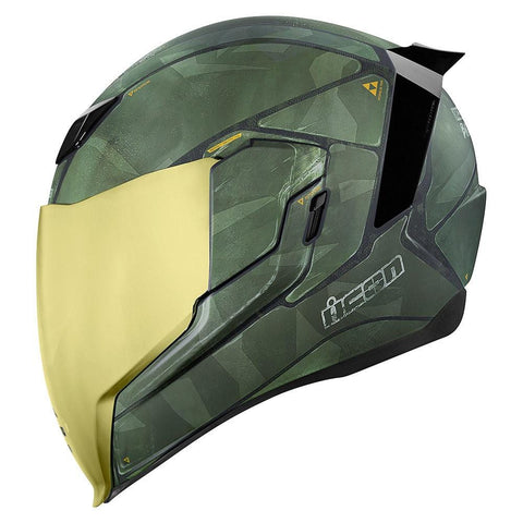 Image of Icon Helmets Icon Airflite Battlescar 2 Motorcycle Helmet FREE Gold Shield
