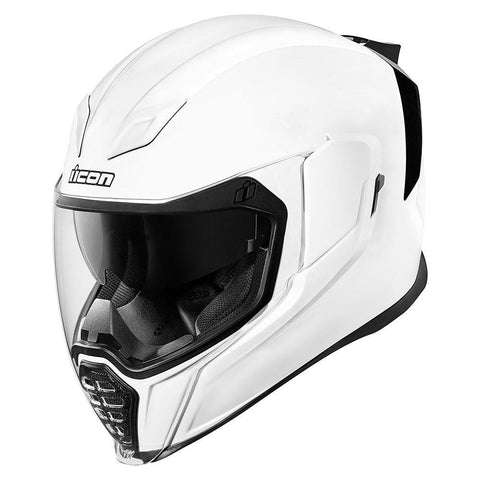 Icon Helmets XS / WHITE Icon AirFlite Gloss Motorcycle Helmet