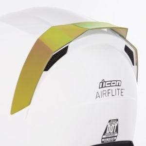 Icon SPOILERS RST GOLD Icon AirFlite Helmet Rear Spoilers