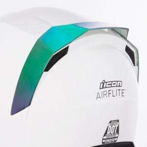 Icon SPOILERS RST GREEN Icon AirFlite Helmet Rear Spoilers
