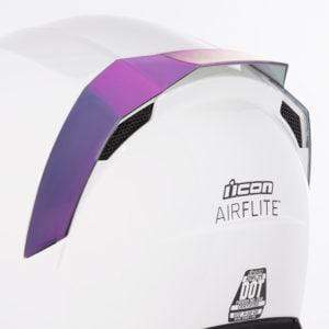 Icon SPOILERS RST PURPLE Icon AirFlite Helmet Rear Spoilers