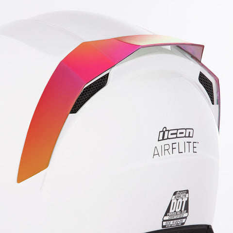 Image of Icon SPOILERS RST RED Icon AirFlite Helmet Rear Spoilers