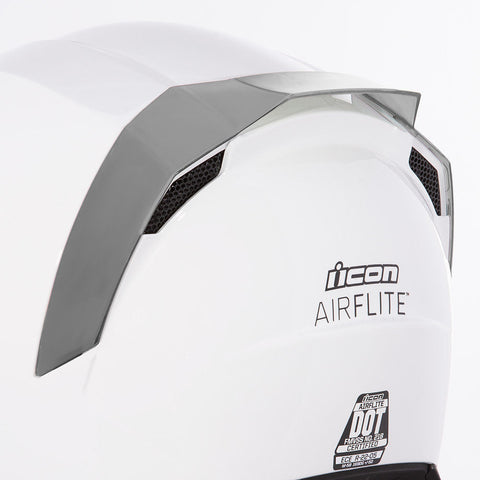 Icon SPOILERS RST SILVER Icon AirFlite Helmet Rear Spoilers