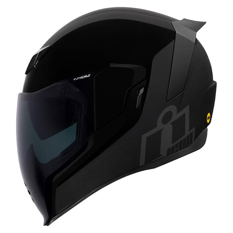 Image of Icon Helmets Icon  Airflit e MIPS Stealth Motorcycle Helmet - FREE Dark Shield