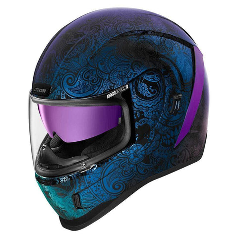 Image of Icon Helmets XS / BLUE Icon Airform Chantilly Opal Motorcycle Helmet