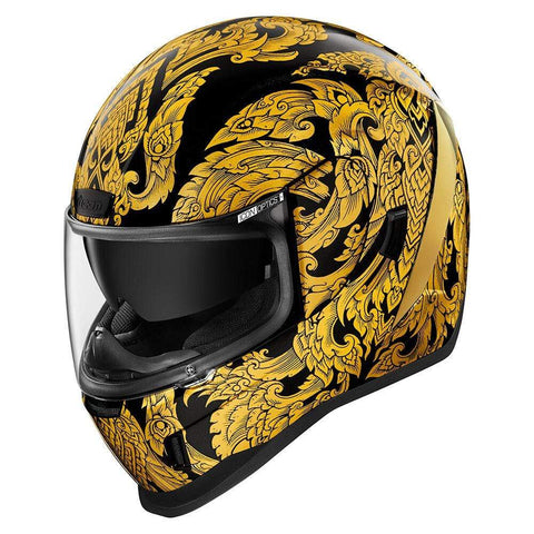 Image of Icon Helmets Icon AirForm Esthetique Motorcycle Helmet - Gold