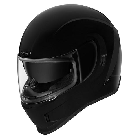 Icon Helmets XS / BLACK ICON Airform Gloss Motorcycle Helmet