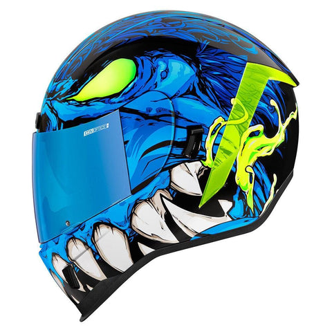 Image of Icon Helmets XS / BLUE Icon Airform Maink'r Motorcycle Helmet