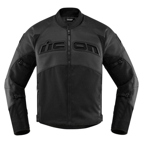 Image of Icon Jacket S / STEALTH Icon Contra2 Perforated Motorcycle Jacket