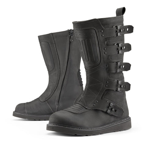 Image of Icon Footwear 7 / BLACK Icon Elsinor2 Motorcycle Boots