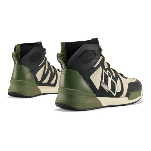 Image of Icon Footwear 7 / GREEN Icon Hooligan Motorcycle Shoes