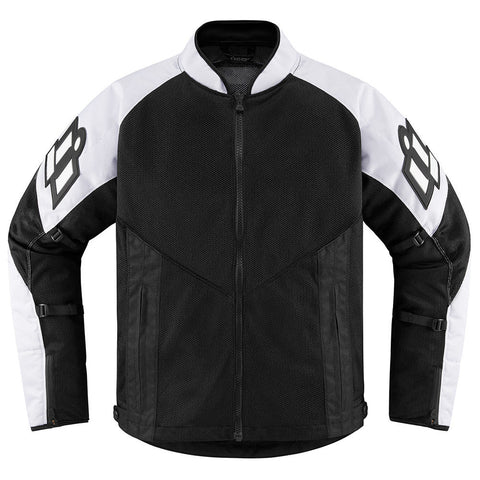 Image of Icon Jackets S / WHITE Icon Mesh AF Motorcycle Jacket