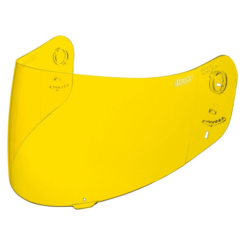Image of Icon Shields Yellow Icon Pro shield for Alliance, Alliance GT, Airframe