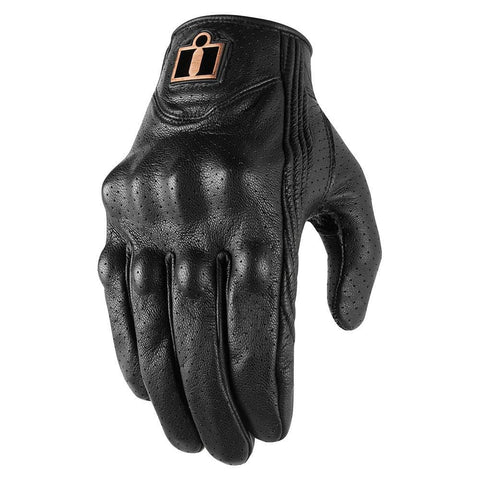 Image of Icon Gloves Icon Pursuit Classic Perforated Motorcycle Gloves