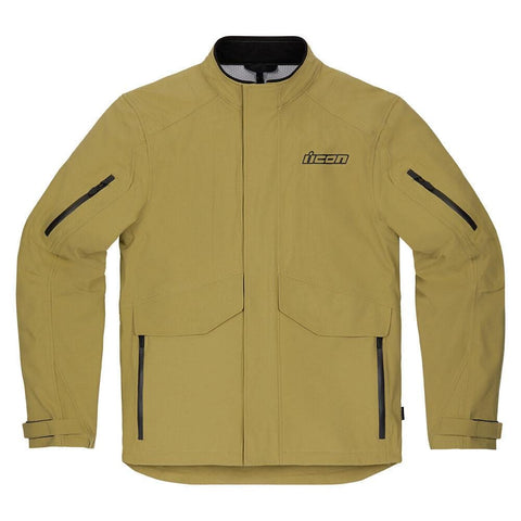 Image of Icon Jackets Icon Stormhawk WP WaterProof Motorcycle Jacket - Tan