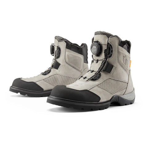 Image of Icon Footwear Icon Stormhawk Waterproof Motorcycle Boot - Gray