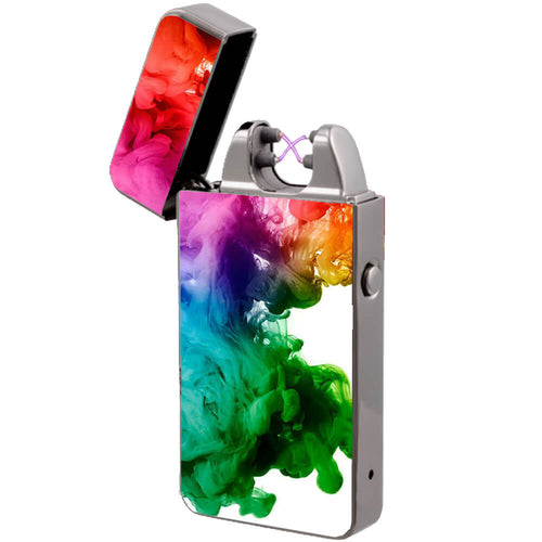 arc lighter the flame x colorful cloud usb rechargeable without gas or butane plasma dual arc lighters