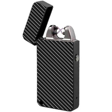 carbon fiber electric beam lighter windproof usb rechargeable the flame x