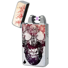 dead skull usb lighter the flame x usb rechargeable arc windproof plasma beam