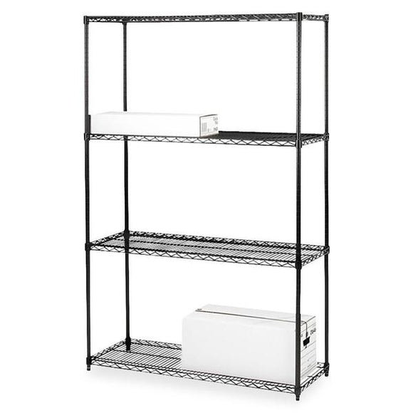 Lorell Black Industrial Wire Shelving