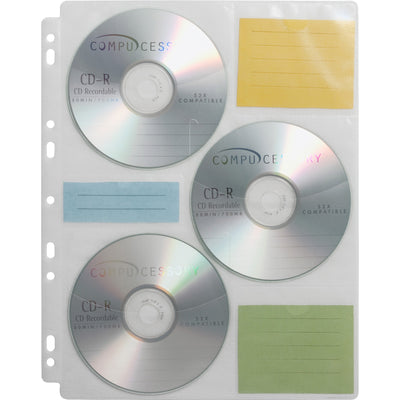 Compucessory CD DVD Ring Binder Storage Pages