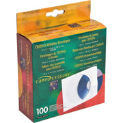 Compucessory CD DVD White Window Envelopes