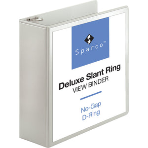Sparco Deluxe Slant Ring View Binders 4 inch