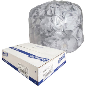 "Genuine Joe Clear Trash Can Liners - Medium Size - 124.92 L - 33"" (838.20 mm) Width x 39"" (990.60 mm) Length x 0.60 mil (15 Micron) Thickness - Low Density - Clear - 250/Box"