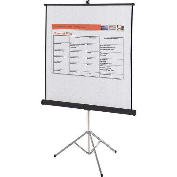 Quartet Manual Projection Screen   1:1   Surface Mount