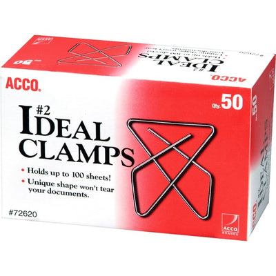 Acco Ideal Butterfly Clamps Small, 50PK
