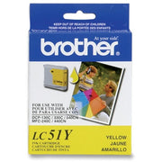Brother LC 51YS Ink Cartridge - Inkjet - High Yield - 400 Pages - Yellow - 1 Each