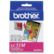 Brother LC 51MS Original Ink Cartridge - Inkjet - 400 Pages - Magenta - 1 Each