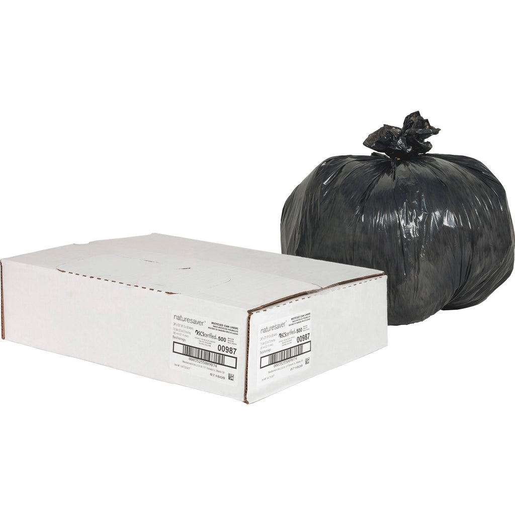 Nature Saver Black Low density Recycled Can Liners