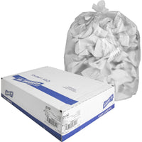 "Genuine Joe High-density Can Liners - Small Size - 60.57 L - 24"" (609.60 mm) Width x 32"" (812.80 mm) Length x 0.31 mil (8 Micron) Thickness - High Density - Clear - Resin - 1000/Carton - Office Waste, Industrial Trash"