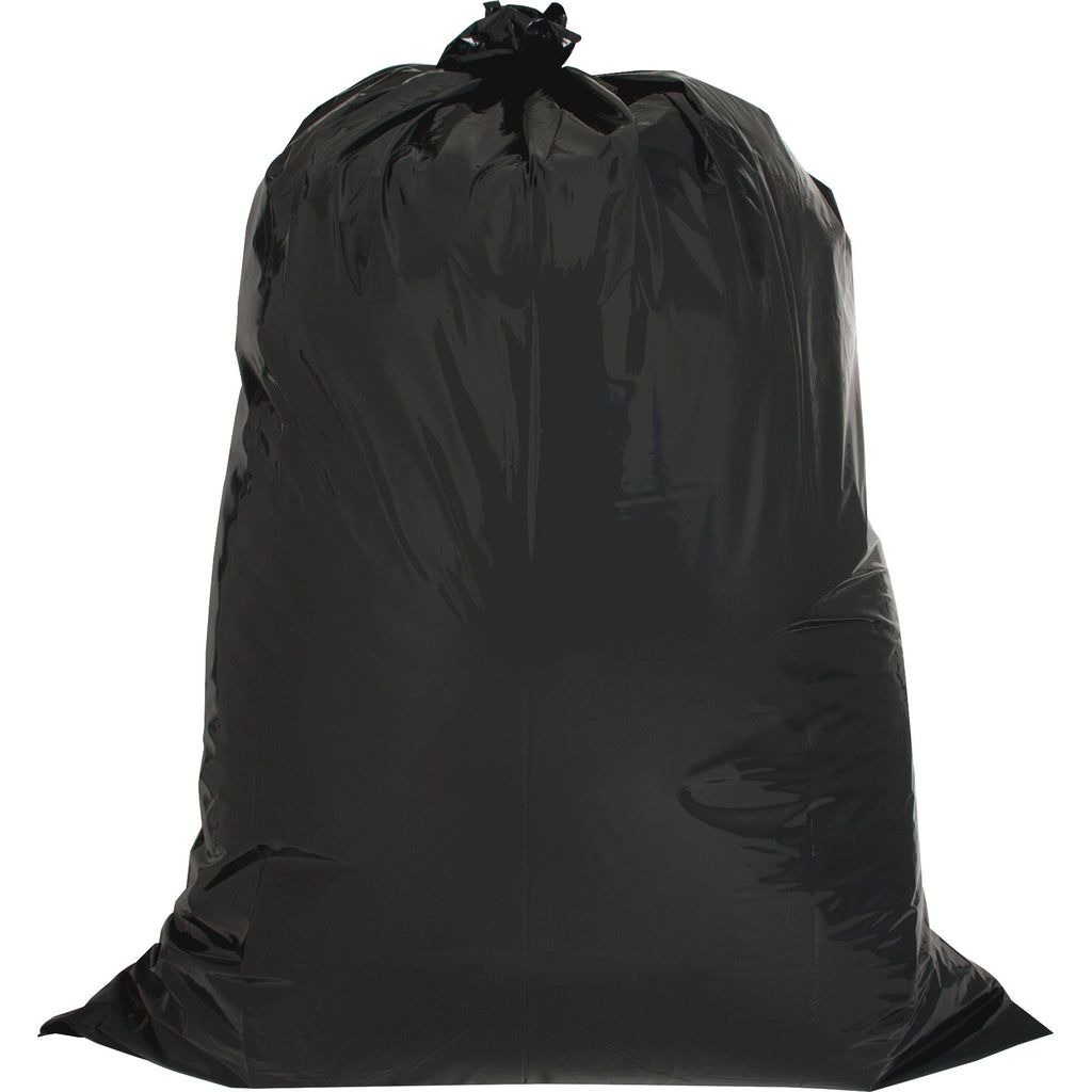 "Genuine Joe Heavy-duty 42-gallon Contractor Cleanup Bags - Large Size - 158.99 L - 33"" (838.20 mm) Width x 48"" (1219.20 mm) Length x 2.50 mil (63 Micron) Thickness - Low Density - Black - 20/Carton - Kitchen"