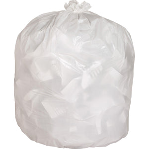 "Genuine Joe Heavy-duty Tall Kitchen Trash Bags - Small Size - 49.21 L - 24"" (609.60 mm) Width x 33"" (838.20 mm) Length x 0.85 mil (22 Micron) Thickness - Low Density - White - 150/Carton - Kitchen"
