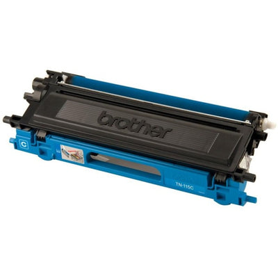 Brother TN 115 C Original Toner Cartridge - Laser - 4000 Pages - Cyan - 1 Each