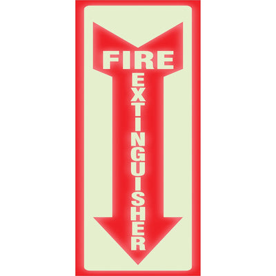 HeadLine Glow Fire Extinguisher Sign