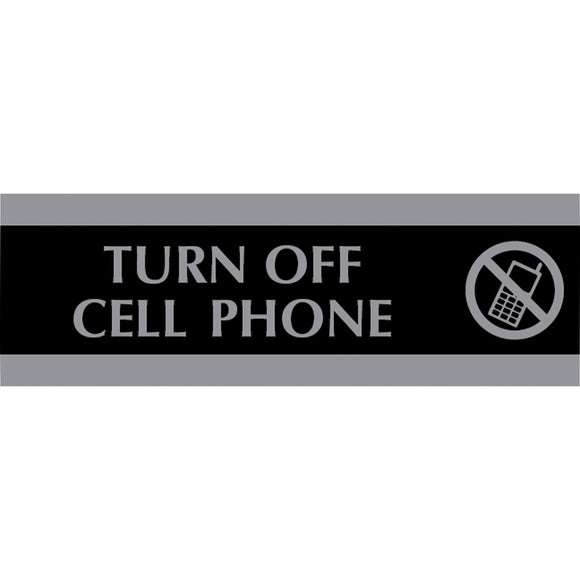 HeadLine Century Turn Off Cell Phone Sign