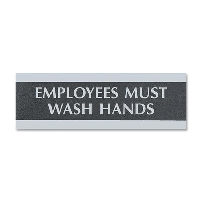 U.S. Stamp & Sign Employees Must Wash Hands Sign