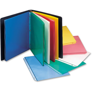 "C-Line Colored Top Loading Sheet Protectors - 2 x Sheet Capacity - For Letter 8 1/2"" x 11"" Sheet - 3 x Holes - Blue, Yellow, Green, Pink - Polypropylene - 50 / Box"