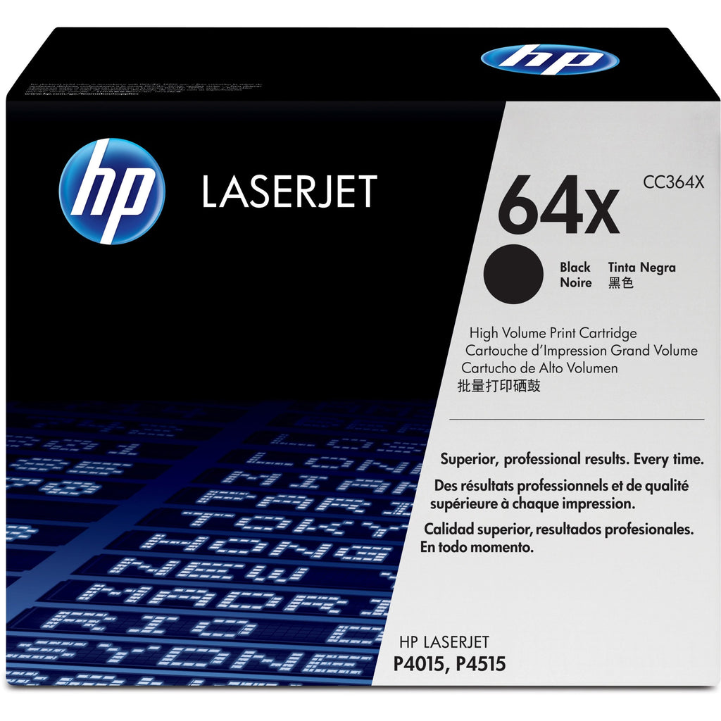 HP 64X Original Toner Cartridge - Single Pack - Laser - 24000 Pages - Black - 1 Each