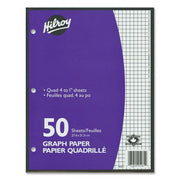 Hilroy 4:1in Two Sided Quad Ruled Filler Paper 50 Sheets