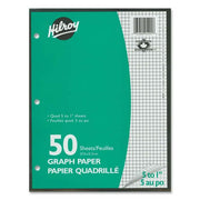 Hilroy 5:1in Two Sided Quad Ruled Filler Paper 50 sheets