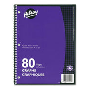 Hilroy 4:1 Executive Coil One Subject Notebook 80 Sheets