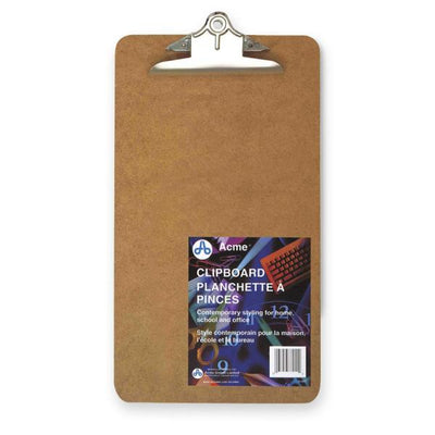 Acme United Deluxe Masonite Clipboard With Hinges Legal Size