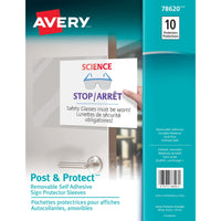 Avery Repositionable Display Protector Clear - 10 / Pack