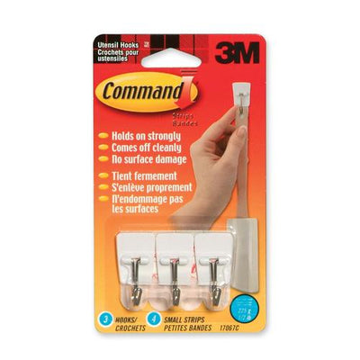 3M Command Adhesive Utensil Hook 3 Hooks / Pack